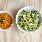 Butternut Squash Pasta and Caesar Salad