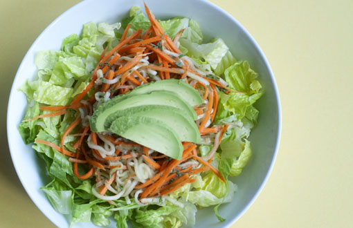 Pad thai salad in a bowl