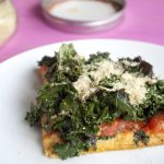 Kale Pizza with Sweet Potato Crust