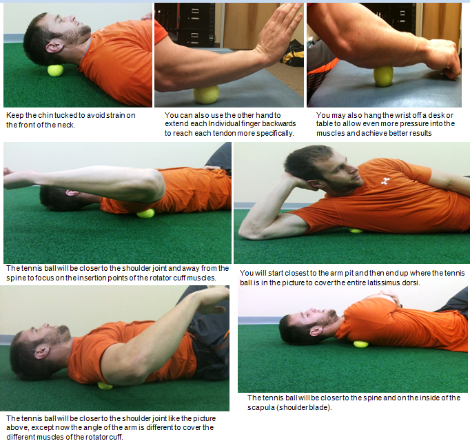 myofascial release upper body with tennis ball