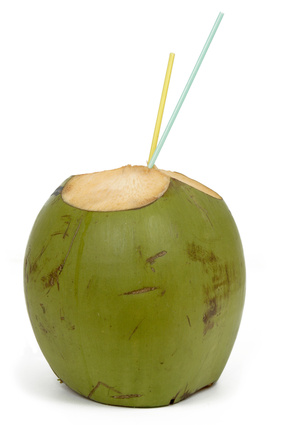 coconut water from young green coconut