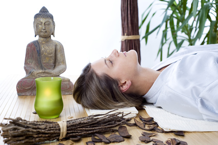 Woman at Natural Spa for Younger Looking Skin