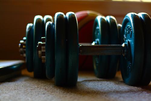 dumbbells at home gym