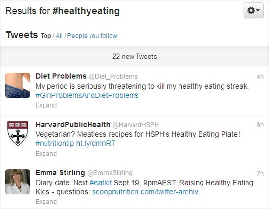 healthyeating twitter hashtag